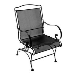 O.W. Lee Avalon Wrought Iron Spring Dining Chair - Spring forward and sit back in the O.W. Lee Avalon Spring Dining Chair. Crafted from wrought iron with the comfortable and reliable addition of the age-old spring design, this all-weather chair is designed for years of outdoor relaxation. Curved arms spiral inward, while the high back and roomy seat won't fail to support with their covering of tight mesh. The thick seat and back cushions are covered in your choice of fabrics, so take all the time you need browsing through our dozens of vibrant colors and styles, but don't forget that you can also choose your favorite frame finish to create a fully customized outdoor chair that's all about you.Materials and construction: Only the highest quality materials are used in the production of O.W. Lee Company's furniture. Carbon steel, galvanized steel, and 6061 alloy aluminum is meticulously chosen for superior strength as well as rust and corrosion resistance. All materials are individually measured and precision cut to ensure a smooth, and accurate fit. Steel and aluminum pieces are bent into perfect shapes, then hand-forged with a hammer and anvil, a process unchanged since blacksmiths in the middle ages. For the optimum strength of each piece, a full-circumference weld is applied wherever metal components intersect. This type of weld works to eliminate the possibility of moisture making its way into tube interiors or in a crevasse. The full-circumference weld guards against rust and corrosion. Finally, all welds are ground and sanded to create a seamless transition from one component to another. Each frame is blasted with tiny steel particles to remove dirt and oil from the manufacturing process, which is then followed by a 5-step wash and chemical treatment, resulting in the best possible surface for the final finish. A hand-applied zinc-rich epoxy primer is used to create a protective undercoat against oxidation. This prohibits rust from spreading and helps protect the final finish. Finally, a durable polyurethane top coating is hand-applied, and oven-cured to ensure a long lasting finish. About O.W. Lee Company An American family tradition, O.W. Lee Company has been dedicated to the design and production of fine, handcrafted casual furniture for over 60 years. From their manufacturing facility in Ontario, California, the O.W. Lee artisans combine centuries-old techniques with state-of-the-art equipment to produce beautiful casual furniture. What started in 1947 as a wrought-iron gate manufacturer for the luxurious estates of Southern California has evolved, three generations later, into a well-known and reputable manufacturer in the ever-growing casual furniture industry.
