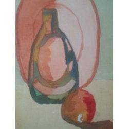 """Mauve Plate Still Life By Cynthia Jackson"" (Original) By Cynthia Jackson - Water Color Still Life Painting"
