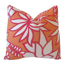 Decorative Designer Pillow Cover, Trina Turk By Nena Von - This cover is actually constructed of indoor/outdoor fabric. It's perfect for picnics and dining alfresco.