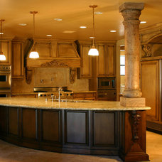 Mediterranean Kitchen Cabinets by Sunwest Woodworks