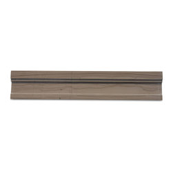 Chair Rail Athens Gray Honed Marble Tile Liner - Take your trim to the next level with this gray-honed marble chair rail. It's sold by the piece, so installation is literally as easy as one-two-three. It's a great way to frame tile in your bathroom or kitchen, but it also creates a dramatic effect on its own in a living room or dining room.