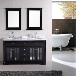 "Imperial 60"" Double Sink Vanity Set - http://www.furnishedup.com/"