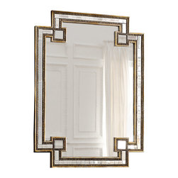 Horchow - Mosaic Mirror - The shape of this mirror is a nod to chinoiserie, which was so popular in the Hollywood Regency style. The mixed metallics also make it a great choice for going glam.
