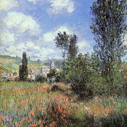 "Monet Lane in the Poppy Fields, Ile Saint-Martin  Print - 18"" x 24"" Claude Oscar Monet Lane in the Poppy Fields, Ile Saint-Martin premium archival print reproduced to meet museum quality standards. Our museum quality archival prints are produced using high-precision print technology for a more accurate reproduction printed on high quality, heavyweight matte presentation paper with fade-resistant, archival inks. Our progressive business model allows us to offer works of art to you at the best wholesale pricing, significantly less than art gallery prices, affordable to all. This line of artwork is produced with extra white border space (if you choose to have it framed, for your framer to work with to frame properly or utilize a larger mat and/or frame).  We present a comprehensive collection of exceptional art reproductions byClaude Oscar Monet."