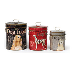 Go Home - Vintage Bark Bins - Set of 3 - Give our best friends something to bark about! These vintage bins would make a much appreciated gift for any canine lover!