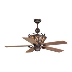 AireRyder - Dynasty 56 in. Ceiling Fan in Forum Patina Fi - 56 in. W x 56 in. D x 26.5 in. H. Blade Finish: Walnut. Blade Span: 56 in.. Blade Pitch: 14 Degrees. Motor Size: 188x15. Downrod Size: 12 in.. Number of Blades: 5. RPM (Hi/Med/Low): 165/112/70. Mounting Method: Downrod. Downrod Diameter: 3/4 in.. Lead Wire: 78 in.. Fan Speed & Light Dimmer Remote Control Included. Light Kit Adaptable. 5,576 CFM; 82 Watts; 68 CFM/Watt. Downrod Diameter: 3/4 in.. Lead Wire: 78 in.. 56 in. W x 56 in. D x 26.5 in. H