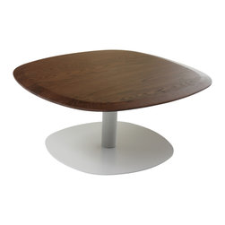 Control Brand - The Troms Coffee Table - The Troms Coffee Table is made from steel with a Walnut veneer top hand finished to perfection.  Rounded edges make this table really stand out.