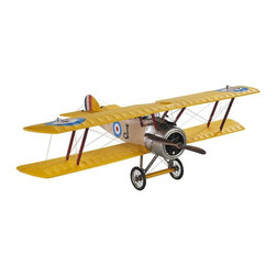 Authentic Models - Authentic Model Camel Airplane - The Sopwith Camel was a popular plane the exploits used for filling newspapers and magazines of the day. Worthy of a museum, this scale replica of the famed fighter has the originals' silk covered frame, fabric covered wings and tail section, metal faux engine, and spinning wooden propeller. This as your desk accessory, will certainly enhance your home or office. Dimensions:�10.25 x 15 x 5 inches.