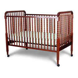 Angel Line - Jenny Lind Fixed Side Convertible Crib - The Jenny Lind Style 2-in-1 Convertible Crib, the very best yet and the most popular ever. This crib combines many great features in one. It boasts stylish fully rounded spindles, convenient casters which can be locked when desired. Constructed of solid wood, this classic elegant piece meets all US safety standards, thus allowing for parent's peace of mind at all times. Features: -Fixed side crib, meets CPSC new standards.-Four position mattress support.-Dual wheel casters with brake.-Toddler bed convertible.-Jenny Lind collection.-Product Type: Full Size Crib.-Design: Traditional.-Style: Traditional.-Collection: Jenny Lind.-Hardware Finish: Silver.-Distressed: No.-Gloss Finish: No.-Material: Solid Wood.-Hardware Material: Steel.-Number of Items Included: 1.-Solid Wood Construction: Yes.-Reclaimed Wood: No.-Wood Tone: Light.-Non Toxic: Yes.-Lead-Free: Yes.-Non-allergenic: Yes.-Water Resistant: Yes -Water Resistant Details: Water Resistant Finish..-Scratch Resistant: No.-Stain Resistant: Yes.-Fire Resistant: No.-Finished Back: Yes.-Compatible Mattress Size: Standard.-Mattress Included: No.-Under Crib Storage: Yes.-Drop Side Crib: No.-Adjustable Mattress Height: Yes -Number of Mattress Height Settings: 3..-Conversion Set Available: No.-Convertible: Yes -Number of Conversions: 2.-Conversion Types: Crib,Day bed..-Life Stage: Baby.-Canopy: No.-Wheels/Castors: Yes -Locking Wheels: Yes..-Crib Feet: Yes -Number of Feet: 4.-Foot Design: Straight legs.-Removable Feet: No..-Folding: No.-Rocking: No.-Toddler Safety Rail Available: No.-Toddler Safety Rail Included: No.-Changing Table Included: No.-Hamper Included: No.-Drawers Included: No.-Shelving: No.-Weight Capacity: 80.-Commercial Use: Yes.-Recycled Content: No.-Eco-Friendly: No.-Product Care: Wipe clean with a dry cloth.Specifications: -JPMA Certified: No.-ASTM Compliant: Yes.-CPSIA or CPSC Compliant: Yes.-Sixteen CFR Compliant: Yes.-ANSI BIFMA Compliant: Yes.-CSA Certified: Yes.-EPP Compliant: No.-fiRA Certified: No.-FSC Certified: No.-General Conformity Certificate: Yes.-Green Guard Certified: No.-ISTA 3A Certified: No.-ITTO Compliant: No.-SFI Certified: No.-Health Canada Compliant: No.-eko-Tex Standard Compliant: No.Dimensions: -Overall Height - Top to Bottom: 45.-Overall Width - Side to Side: 55.-Overall Depth - Front to Back: 30.-Height from Floor to Crib: 10.-Height from Top of Bed to Top of Railing: 10.-Overall Product Weight: 54.Assembly: -Assembly Required: Yes.-Tools Needed: Tools Included.-Additional Parts Required: No.