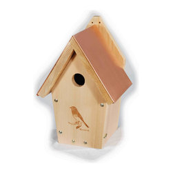 Woodlink - Coppertop Bluebird House - Laser Etched, predrilled for mounting, and ornithologically correct. Coppertop Bluebird House