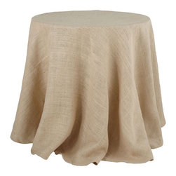 Burlap Tablecloth - Medium - Ideal for bringing a bit of texture and neutrality into a room, this burlap tablecloth has a simple and somewhat graphic design.
