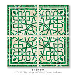 Stone and Shell Inlay Tile -