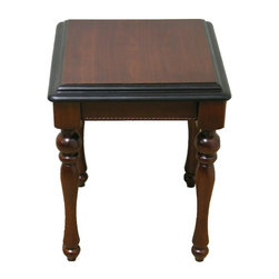 Warehouse of Tiffany - Lifestyle End Table - Rubberwood. Dark Brown. Dimensions: 22 in. H x 17 in. W x 17 in. LLifestyle End Table by Warehouse of Tiffany. Compliments wide variety of decor. The color is dark brown.