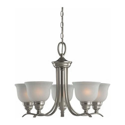 Sea Gull Lighting - 5-Light Chandelier Brushed Nickel (includes bulbs) - 31626BLE-962 Sea Gull Lighting Wheaton 5-Light Chandelier with a Brushed Nickel Finish
