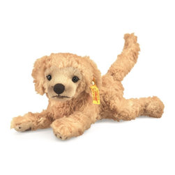 Steiff - Steiff Little Friend Lumpi Golden Retriever Puppy Dog - Steiff Little Friend Lumpi Golden Retriever Puppy Dog is made of cuddly soft blond plush. Ages 3 and up. Machine washable. Handcrafted by Steiff of Germany.