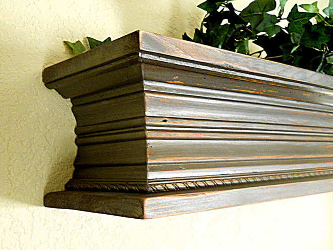 Eclectic Wall Shelves by Cass County Woodworks