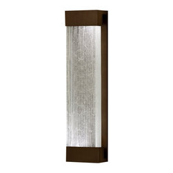 Fine Art Lamps - Crystal Bakehouse Clear Crystal Sconce, 811150-13ST - Shine a light on your world with a polished block of crystal shards nested in a sleek frame. Clean, simple lines make this fixture at home anywhere you mount it — indoors or out.