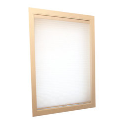 Chicology Cordless Cellular Shade Whisper White 23X72 - Chicology Cordless Cellular window shades are energy efficient, help to insulate your home and provide a timeless look for your window and room. In addition to providing privacy, the shades are also cordless and open and close with the gentle pull and push of your hand. All brackets / hardware included allow for mounting inside or outside your window frame with ease.