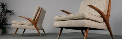 Pair of Mid Century Modern Elegant Lounge Chairs | Furnish Me Vintage