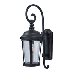 Maxim Lighting - Maxim Dover Cast 1-Light Outdoor Wall Lantern Bronze - 3023CDBZ - Dover Cast is a traditional, Mediterranean style collection from Maxim Lighting Interior in Bronze finish with Seedy glass.
