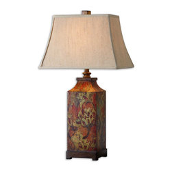 Uttermost - Uttermost Colorful Flowers Table Lamp - 27678 - Uttermost Colorful Flowers Table Lamp - 27678