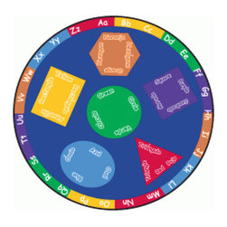 "Learning Carpets - Learning Carpets Indoor Outdoor Playmat Bilingual - CPR491 Round 6'6"" - Learning language comes naturally when children are young and studies show that introducing children to foreign languages should begin as early as possible. Expand your child's horizons and language potential with these bilingual learning carpets, featuring both Spanish and English translations for a variety of shapes and colors. Available in three shapes: Round, Oval and Rectangular. Available in two sizes of each shape. Anti-Microbial Treatment: The Anti-Microbial treatment is a durable ""locked-in"" feature that is incorporated into the backing composite of all our rugs to minimize product deterioration and odors caused by microbial activity. This enhancement minimizes the opportunity for product-deteriorating microbial activity in the backing or beneath the carpet. This feature has been tested for effectiveness and safety. In addition, this anti microbial treatment remains active for the life of the carpet under normal use and with routinely accepted maintenance. All our Cut Pile Rug designs are available in various shapes and sizes. Lifetime Limited Wear Warranty. 10-year soil and stain protection. Lifetime anti-static fiber. High twist 100% nylon - prevents matting and crushing. Flexible back resists wrinkling. Triple Felt Backing. Double Stitching. Guaranteed Lowest Cost in the Industry. No Minimum Order Required. Superb Customer Service. Drop Shipping Available. Made in Holland."