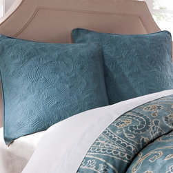 Harbor House - Harbor House Belcourt Euro Sham - The Harbor House Belcourt Collection mixes teals and greens together for a colorful update to your bedroom. This cotton quilted euro sham provides a solid teal backdrop to your bedding set. Face is: T210 100%cotton quilted, back: T210 100%cotton fabric. Filling: 100%cotton.