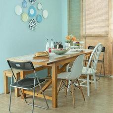 Sala de jantar descontraída e preparada para crescer em dias de festa - Casa.co