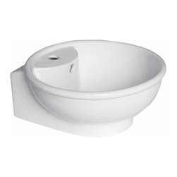 Renovators Supply - Vessel Sinks White Lucille Medium Vessel Sink | 15327 - Vessel Sinks Above Counter: Made of Grade A vitreous China these sinks easily endure daily wear and tear. Our protective RENO-GLOSS finish resists common household stains and makes it an EASY CLEAN wipe-off surface. Ergonomic and elegant easy reach design reduces daily strain placed on your body. SPACE-SAVING design maximizes limited bathroom space. Easy, above counter installation let's you select from many countertop designs, sold separately. Measures 14 inch diameter
