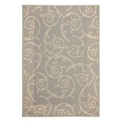 """Safavieh - Safavieh Courtyard CY2665-3606, Gray, 6'7""""x9'6"""" Rug - Safavieh's Courtyard collection was created for today's indoor/outdoor lifestyle. These beautiful but practical rugs take outdoor decorating to the next level with new designs in fashion-forward colors and patterns from classic to contemporary. Made in Turkey with enhanced polypropylene for extra durability, Courtyard rugs are pre-coordinated to work together in related spaces inside or outside the home."""