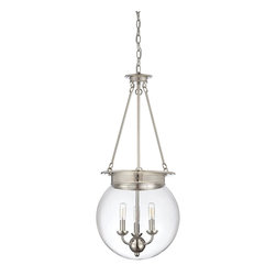 Savoy House Lighting - Savoy House 7-3301-3-109 Glass Filament 3 Light Pendant, Polished Nickel - Salute the bygone days of incandescent illumination with these exceptional  Savoy House glass pendants. The nostalgic bulbs are on full display inside clear glass globes in 1- or 3-light styles. Available in English  Bronze ,  Polished Nickel, and Satin Nickel.