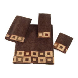 Avanti Linens - Precision 4 Piece Cotton Towel Set by Avanti Linens - Perfect for the exacting home decorator with a taste for clean, contemporary design, the Precision towel set will complete your bath with refined style. The color of these towels is mocha.
