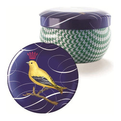 Fringe Studio - Fringe Studio Brody Tin Cabbage Candle - Decorated printed tin vessels are filled with Fringe Studio's exclusive wax blends which are highly fragranced and hand-poured. Burn time of 30 hours. 6 oz. Candles are not gift boxed.