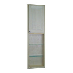 None - Baldwin 54-inch Natural Recessed Pantry Storage Cabinet with 30-inch Shelf - The Recessed Baldwin pantry storage cabinet is a great to way take advantage of the space you never knew you had. This versatile cabinet offers multiple levels of customization,and is easy to install.
