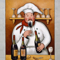 Murals Your Way - Chef 1 Wall Art - Perfect for over your bar or in your kitchen, this wall mural celebrates the gift of wine