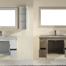 modern bathroom vanities and sink consoles Barros Single Vanity By Art-Bathe