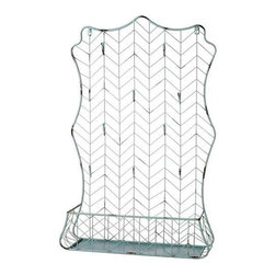 MIDWEST CBK - Zig-Zag Wire Wall Shelf - Zig-Zag Wire Wall Shelf. Shop home furnishings, decor, and accessories from Posh Urban Furnishings. Beautiful, stylish furniture and decor that will brighten your home instantly. Shop modern, traditional, vintage, and world designs.