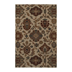 "American Rug Craftsmen - Transitional Georgetown 9'6""x12'11"" Rectangle Beige-Blue Area Rug - The Georgetown area rug Collection offers an affordable assortment of Transitional stylings. Georgetown features a blend of natural Beige-Blue color. Machine Made of Heat Set Polypropylene the Georgetown Collection is an intriguing compliment to any decor."
