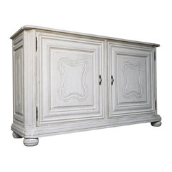 NOIR - NOIR Furniture - KRISTIANSE SIDEBOARD WHITE WEATHERED - Features: