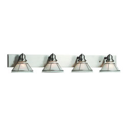 Dolan Designs - Dolan Designs 634-09 Craftsman Satin Nickel 4 Light Vanity - Dolan Designs 634-09 Nickel Bath Lighting