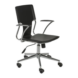 Euro Style - Euro Style Terry Office Chair X-40440 - Lighter and leaner than most office chairs with this kind of flexibility: great lines on the arms and back make the Terry a contemporary twist....and it does swivel.