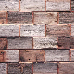 Reclaimed Barn Tiles - These tiles are made from reclaimed barn siding and are great in kitchens as a backsplash or feature wall.  Tiles are supplied by Reclaimed DesignWorks.