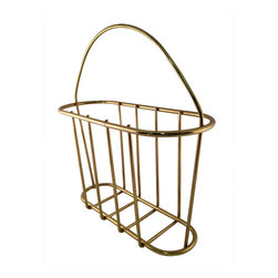 Brass-Finish Vintage Wire Magazine Holder - I love a classic vintage piece that stands the test of time. Pile your magazines in this!