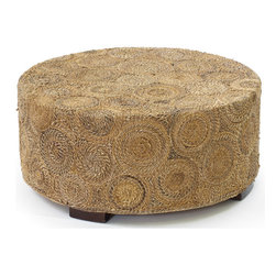 Go Home - Go Home Banana Coffee Table - This Banana Coffee Table is a perfect match to your home decor. The wooden and raffia material based table is a stylish addition to your home. This round shaped coffee table exhibits natural finish.