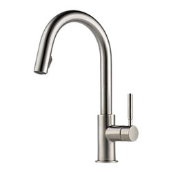 Brizo - Brizo 63020LF-SS Solna Stainless Steel Pulldown Kitchen Faucet - The Brizo 63020LF-SS is a one handle pull-down kitchen faucet from Brizo's Solna design suite featuring a seamless clean design, crisp lines, and a Stainless Steel finish.