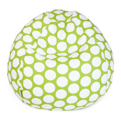 Indoor Hot Green Large Polka Dot Small Bean Bag