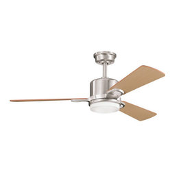 "Kichler - Kichler 300017BSS 48"" Indoor Ceiling Fan 3 Blades - Remote, Light Kit and - Kichler 300017 Celino Ceiling Fan"