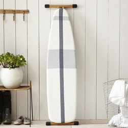 Surf Stripe Ironing Board Cover, Stone White/Blue Fin - Sometimes my decor details are only for me. How perfect is this striped ironing board cover?