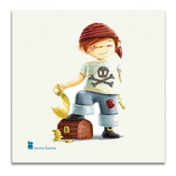 Mimilutine - Sweet Pirate Canvas Print - Great canvas print to decorate a child's room. It makes a perfect gift for birth or birthday! Make sure to combine it with the coordinated pillow.
