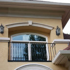 """Cast Stone Moldings & Columns - """"The columns give that Mediterranean feel"""""""